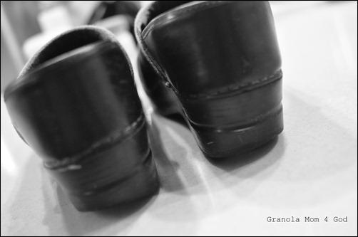the heel of Dansko shoes