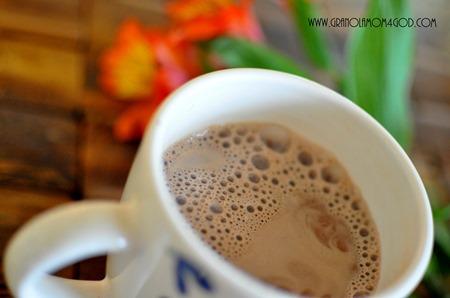 almond milk cocoa drink