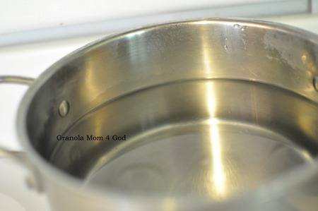 boiling water for kombucha