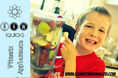 Vitamix raw  applesauce