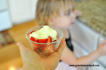 kids devour Vitamix Whipped cream
