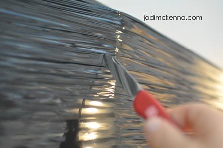 cutting open the golden designs sauna