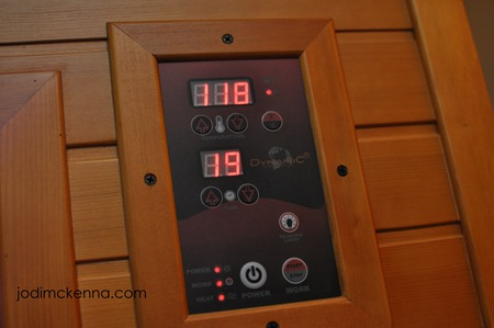temperature and time panel for golden designs sauna